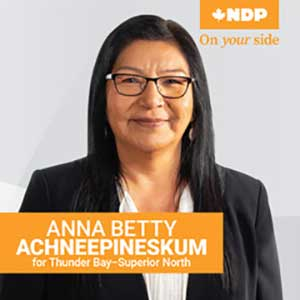 Anna Betty NDP Thunder Bay-Superior North