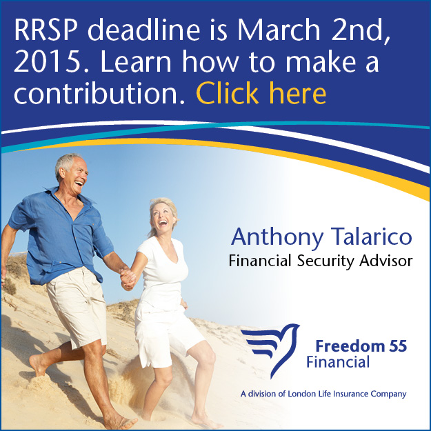 Anthony Talarico RRSP 2015