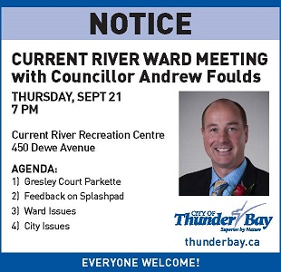 Current River Ward Meeting Thunder Bay
