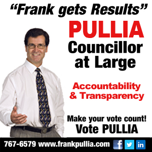 Frank Pullia Councillor at Large - Accountability and Transparency