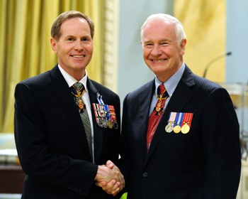 Retired Rear Admiral Tyrone Pile with His Excellency, David Johnston, Governor General of Canada