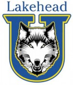 Lakehead Thunderwolves women's volleyball team celebrate first win