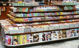 Magazines on Newsstand