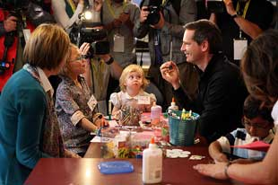 Premier McGuinty at Sick Children's Hospital