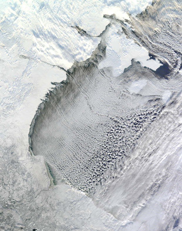 Weather NASA Image of 'Cloud Streets' over Hudson's Bay
