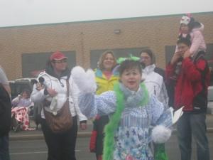 Clown at Santa Claus Parade