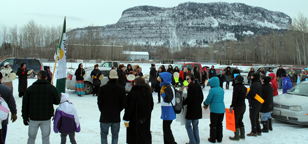 Idle No More- Round Dance Fort William First Nation near Thunder Bay Photo By:Nathan Ogden