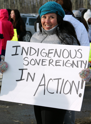 Idle No More supporter-Jolene Banning Photo By:Nathan Ogden