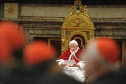 Pope Benedict XVI delivers 'State of the Church' address