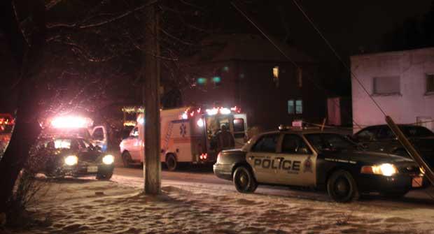 Thunder Bay Police respond to call at Villa Street.