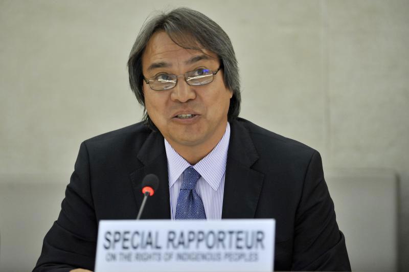Special Rapporteur James Anaya. UN Photo/Jean-Marc Ferré