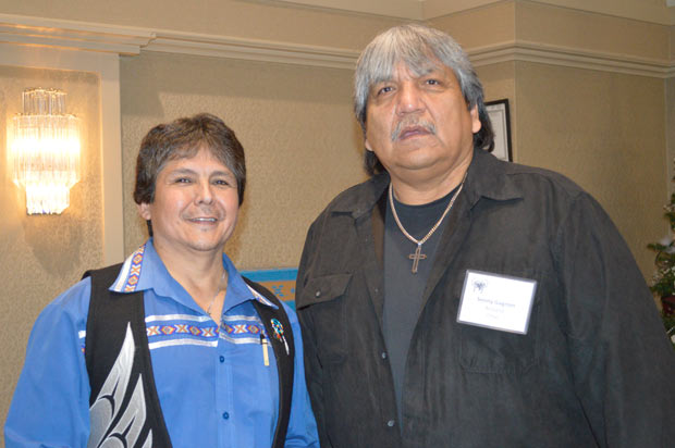 Chief Clarence Louie and Aroland Chief Sonny Gagnon