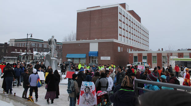 Idle No More - Rally getting set to go - Photo by Quinn Spyrka