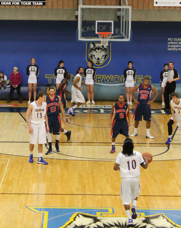 Greg Carter on the offensive for the T-Wolves - Photo by Quinn Spryka