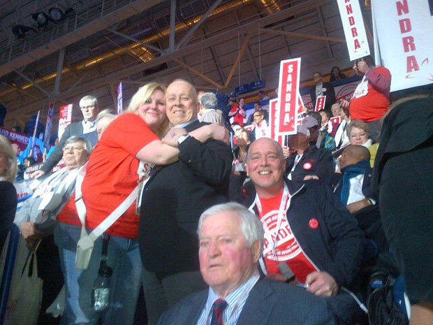Thunder Bay Superior North MPP - Minister Michael Gravelle at Liberal Convention - Former PM John Turner in foreground