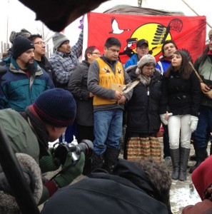 First Nations Leaders at Victoria Island January 4 2013