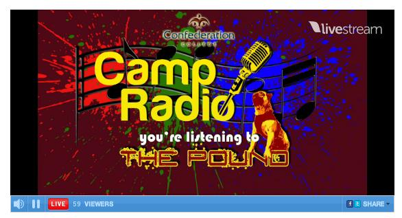 Camp Radio from Confederation College goes live