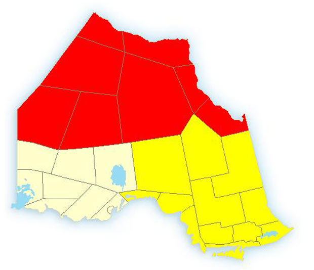 Far North has Weather Warnings, North Shore of Superior has Snow Squalls
