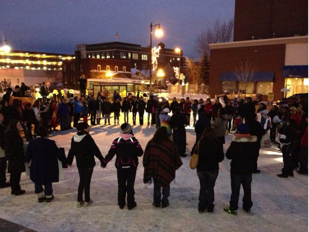 Thunder Bay Idle No More Round Dance at Thunder Bay City Hall