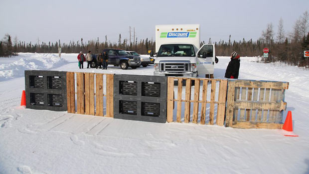 Road blocked into De Beers Diamond Mine near Attawapiskat - Photo by Chris Kat ©2013 all rights reserved