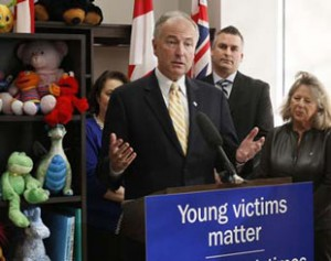 Justice Minister Nicholson - Conservatives focused on crime agenda