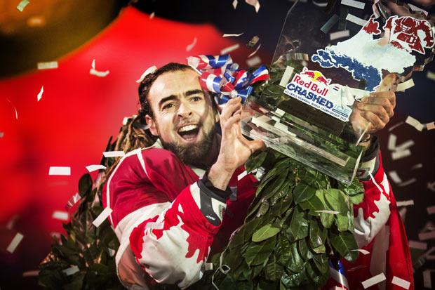 Red Bull Crashed Ice Winner Derek Wedge February 2013