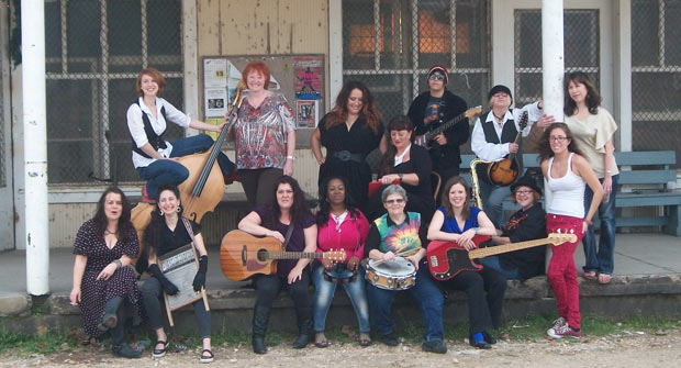 Blues Women recording - with local artist Sunday Wilde!