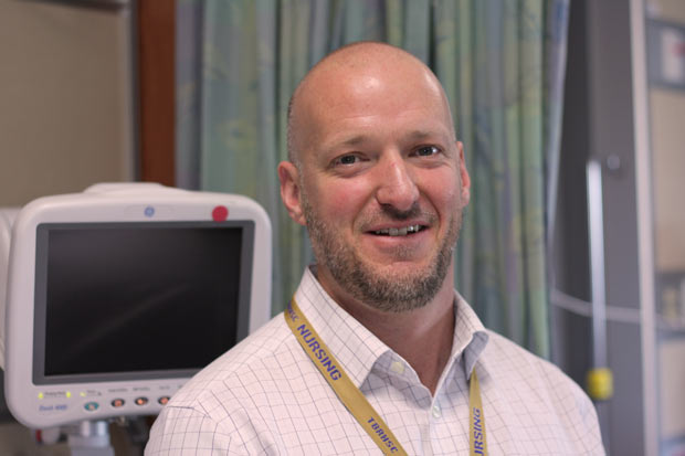 Wayne Taylor has improved patient care in Cardiology in several ways since becoming Manager of Cardiology last April including promoting teambuilding within the cardiac unit and angioplasty recovery area, and ensuring patients get the appropriate level of care during air transfers