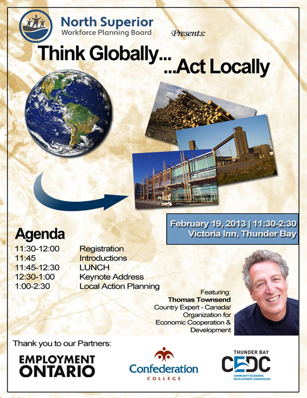 Think Globally Act Locally Live Today @ 12:30pm Feb 19th, 2013