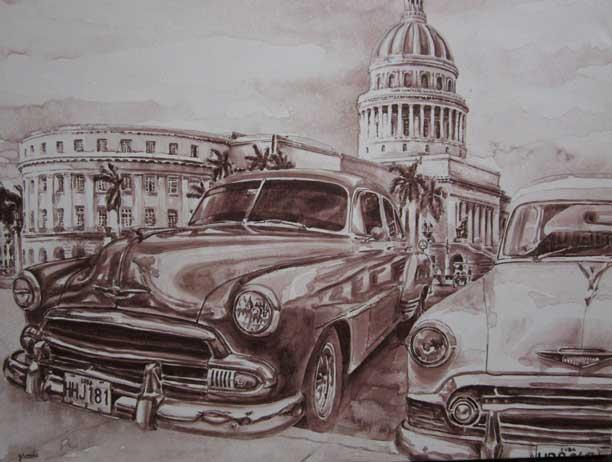 Panoramic view of the Habana Cuba Art Gallery