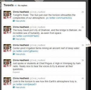Chris Hatfield Twitter feed