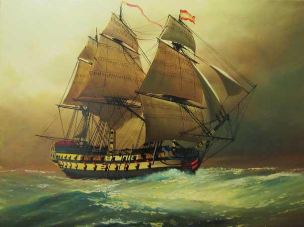 The Ship on display at the Hubana Cuba Art Gallery