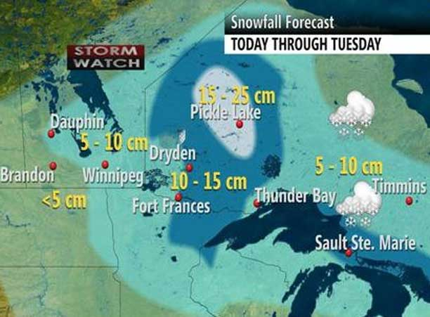 Weather Outlook for Northwestern Ontario