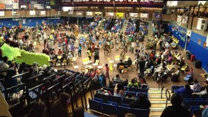 The beat of the drum echos across Lakehead University during the annual LUNSA Pow Wow