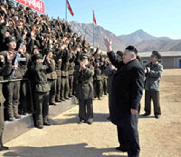 North Korean President reviews troops