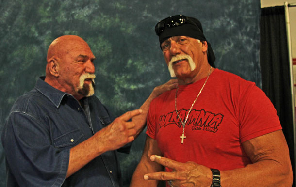 Superstar Billy Graham and Hulk Hogan