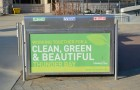 Clean, Green and Beautiful is the goal. At City Hall, recycling bins are in place.
