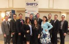 SHIFT's Annual General Meeting & Speed Networking Event: SHIFT stands tall with their new Board of Directors for 2013-2014. (Back Row, left to right) Peter Marchl, Jon Hendel, Keith Anderson, Ian Wright, Nathan Lawrence, Jake Satten, Scott Schooler, Brett Sharman. (Front Row, left to right) Samantha Mihalus, Dayna Bobrowski-Vogt, and Shelby Ch'ng.