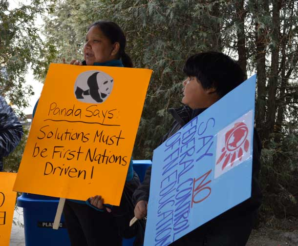 First Nations sending message to Ottawa