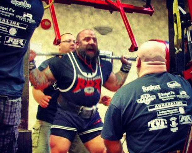 Dallas 'The Punisher' Hogan 1st in Power Lifting