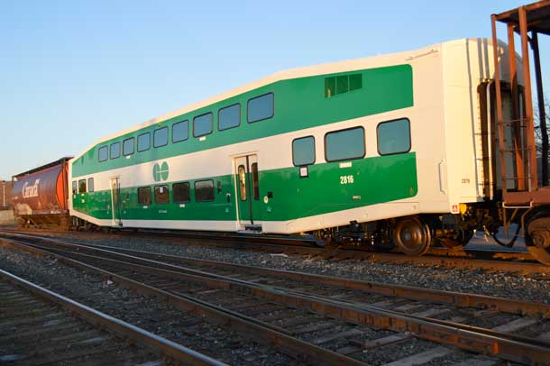 Go Train headed south to Toronto made at Bombardier in Thunder Bay