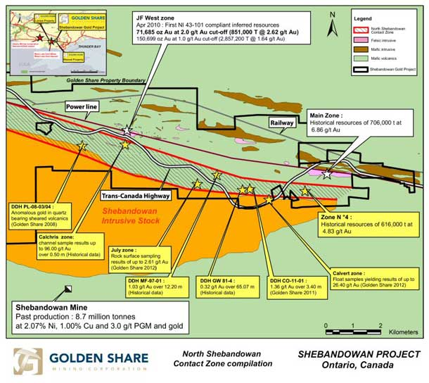 Golden Share Resources – Shebandowan Update