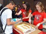 Happy Birthday Hammarskjold! Students and the Alumni celebrated with cake.