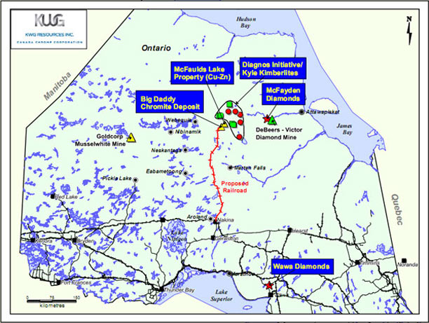 KWG Resources – Rail better than road for Ring of Fire