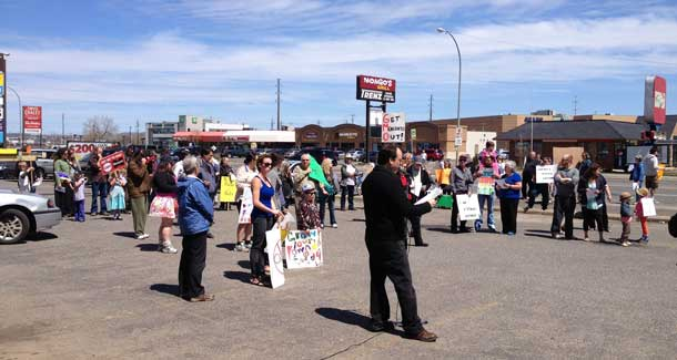 Monsanto World Wide Protest in Thunder Bay