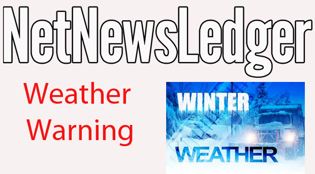 Freezing Rain Warning issued