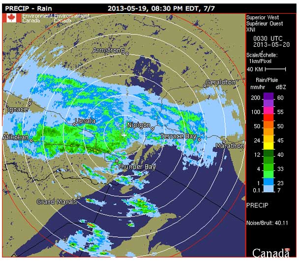 Rainfall Warning Declared for Thunder Bay