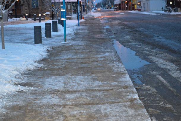 Freezing Rain may make walking dangerous