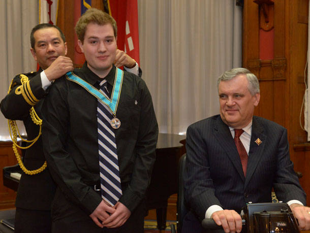 Ontario Medal for Young Volunteers Awarded to Tyson Grinsell