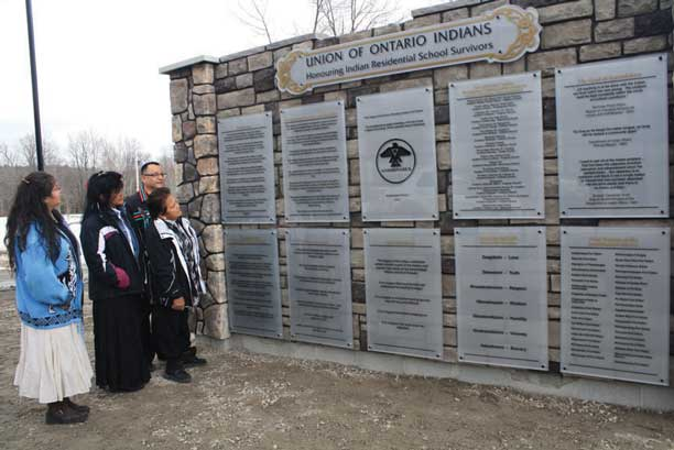 Anishinabek Nation monument to Residential School Survivors